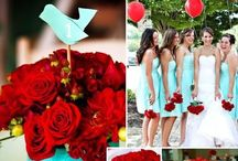 Teal & Red Wedding  / by The American Wedding