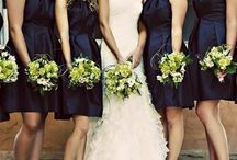 Chartreuse & Navy Wedding
