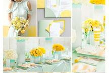 Mint & Yellow Wedding / by The American Wedding