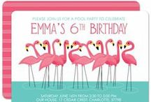 flamingo party / Ideas for a pink flamingo pool party - featuring shades of pink and aqua.