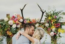 Antler Themed Wedding / The Antler Themed wedding is a unique and trendy twist on a non-traditional wedding element, brides are absolutely loving this new woodland-inspired trend, and so are we! Explore all our Antler wedding inspiration including wedding decor, centerpieces, and more including our new Rustic Antler Monogram Wedding Invitation Suite! / by The American Wedding