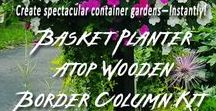 Spectacular Container Gardens / It's simple and easy to Create spectacular container gardens instantly using specially designed Pamela Crawford containers and coco liners with pre-cut holes.
