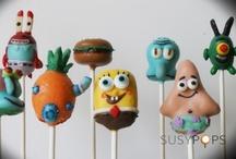 "SpongeBob cake pops by SusyPops / ""Pop"" art you can eat!  facebook.com/SUSYPOPS"