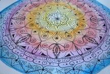 Mandalas y algo mas / Estos mandalas los dibujé y pinte yo. :)