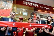 Singapore: Grand Opening Ferrari Store / Ferrari Store Singapore celebrated its official opening in the suave Marina Bay Sands with an exceptional guest: Fernando Alonso. Boasting 175 square meters of retail space, its design brings together Ferrari's history and heritage amidst the backdrop of a modern aesthetic. / by Ferrari Store