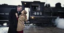 Vintage Train Engagement Inspiration / Stylized Engagement Shoot