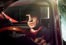 Ferrari sunglasses: choose the one for you / Choose your view with the perfect sunglasses. Drop or square shape, steel or leather rod, the choice is yours. A wide range of colours for lenses and frames, from Ferrari red to more neutral tones. / by Ferrari Store