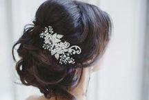 Bridal Hair Inspiration. / Hair style inspiration for your wedding look.