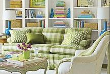 Living room/Library / by Linda @ Calling it Home