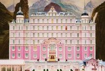 { THE GRAND BUDAPEST HOTEL } / TGBH recounts the adventures of Gustave H, a legendary concierge at a famous European hotel between the wars, and Zero Moustafa, the lobby boy who becomes his most trusted friend.  The story involves the theft and recovery of a priceless Renaissance painting and the battle for an enormous family fortune -- all against the back-drop of a suddenly and dramatically changing Continent. IN THEATERS MARCH 7TH, 2014! / by Fox Searchlight