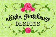 Alisha Gratehouse Designs (My Etsy Shop) / Mixed Media Art, Chalkboard Art, Oil Painting, Watercolors, & More. https://www.etsy.com/shop/leeleeandlivvy