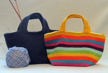 Totes, Bags - Sew, Crochet / Easy to make bags  - add imagination to create my own style!.