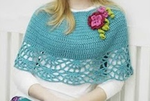 Crochet Capelets & Capes / i love capelets, and I have designed several over the past few years. I like the kind that are like a short poncho (crocheted in the round) and I like capelets that come together in the front and close with a button or ribbon. (usually worked in rows. / by MaryJane Perry Hall