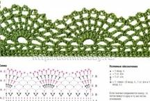 Crochet Edgings / Crochet patterns for crochet edgings, borders