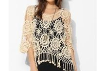 Ponchos - Crochet / Crochet Ponchos can be all sizes - short, long (to the knees) lacy or thick & warm. A short poncho is usually called a ponchette.