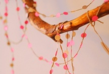 Strung Out / Garland. Light strands. Rag bunting.  / by Krissy
