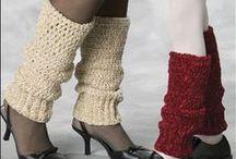 Legwarmers / Crochet and knit legwarmers, leg warmers