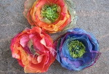 Crafts ~ Making Flowers, Fabric Paper, Silk / I love making flowers.