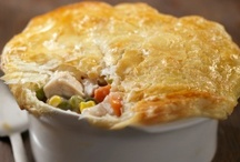 Pot Pies-Chicken & Beef / Any kind of pot pie with meat. Chickdn, beef, pork, etc