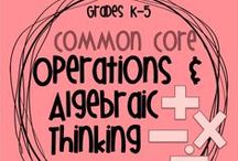 Math: (OA) Operations and Algebraic Thinking / WA-AIM (EE.4.OA.1-2) Demonstrate the connection between repeated addition and multiplication.  WA-AIM (EE.5.OA.3) Student will identify and extend numerical addition or subtraction PATTERNS. / by Charlyne Allen
