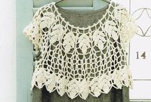 Crochet Crop Tops / Crochet Crop Tops - some at the waist, some above the waist and some slightly below the waist / by MaryJane Perry Hall