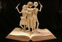 Book Arts / The amazing things artists have created out of recycled books.