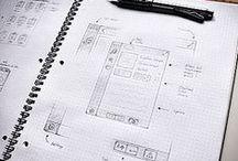 Sketching / mobile design, website design, concept, graphic, sketch, sketching