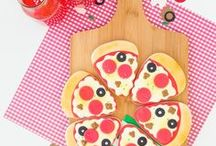 Pizza Party Ideas / What easier than a pizza party? In additional to the hot, melty kind, we also included pizza cookies in our party and some fun table toppings inspired table confetti. Our pizza party ideas are sure to get you planning ASAP!