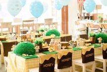 Winnie the Pooh Baby Shower Ideas / Baby shower inspiration for a 100 Acre Woods/Winnie the Pooh theme.