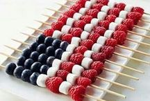 Patriotic 4th of July Party / Whether you're celebrating Independence Day throwing a party, setting off fireworks, or enjoying a quiet picnic, these patriotic recipes and decoration ideas will make your event one to remember.