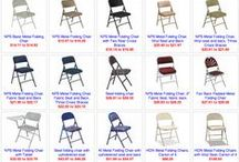 Folding Chairs / There are 22 models of plastic, metal and wood folding chairs available at Bright Settings. Clicking on any of these pins will take you to the page on BrightSettings.com were you can fine tune your selection or make a purchase.
