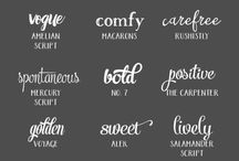 Font love / Fonts and typefaces including lots of freebies.