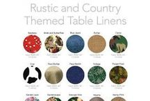 Rustic and Country Collection / Howdy! We Have The Perfect Table Linens For Your Country Theme.
