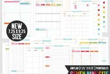 UNplan Planner! / UNplan your days with these undated printable pages!  Available in Letter Size, Half Size, Filo Half Size & Filo Personal Size - use them for any day, week, month and year! Over and over and over again :)  http://www.misstiina.com/unplan