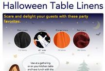 Halloween Collection / Pick one or more of these fabrics and let us make you a custom size Halloween tablecloth or just about any other table linen product you can think of.