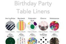 Birthday Party Collection / We rounded up a baker's dozen of our most festive, colorful party fabrics for you.