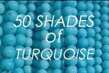 50 Shades Of Turq / #turquoise #color #50shades #multi #ombre #wedding #fashion #cake #food #home #decor #colorblock #makeup #beauty #style #paint #diy #howto #jewelry