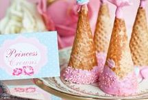 Princess Birthday Party Ideas / Planning a birthday party for your little princess? Princess inspired decorations, food, cakes and cupcakes, party favours, games and more.