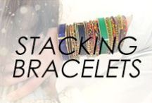 Stacking Bracelets / #bracelet #stackingbracelet #howto #diy #tutorial #inspiration #guide #bangles #cuffs #mixandmatch #layeringguide #layeredbracelets #braceletstack #ideas #unique #style #fashion #jewelry #statement #personalized #customized #curated #tips #styletips #list #fashionadvice #styleadvice