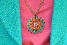 Turq & Coral: Summer's Power Combo / #turquoise #coral #summer #color #beach #sunset #jewelry #fashion #style