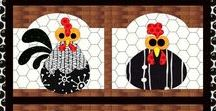 Chicken Love / My chicken mama board! From hen and rooster love to coop care to chicken decor here are some of my favorite flock pins.