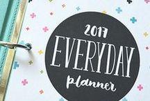 2017 Everyday Planner / Letter, Half, Filo Half, Filo Personal + Seven Nine size 2017 printable planner pages! VIEW DETAILS HERE http://misstiina.com/2017