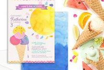 Ice Cream Birthday Party / Ice Cream Social Birthday Party ideas