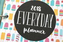 2018 Everyday Planner / Letter, Half, Filo Half, Filo Personal + Seven Nine size 2018 printable planner pages! VIEW DETAILS HERE http://misstiina.com/2018