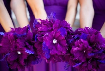 Purple and Blue Wedding Colors / Ideas and inspiration for using the colors purple and blue in your wedding color scheme. {www.weddingcolors.net}