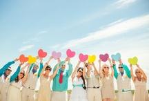 Rainbow Wedding Ideas / Ideas and inspiration for planning a rainbow wedding. {www.weddingcolors.net}