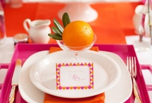 Pink and Orange Wedding Colors / Ideas and inspiration for using the colors pink and orange in your wedding color scheme. {www.weddingcolors.net}