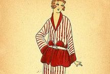 1920s Wmn PJs & Lingerie / Boudoir fashions & underthings for 1920's women