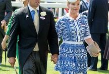 British - Autumn (Kelley) and Peter Phillips / Peter Phillips, son of Anne, Princess Royal.  Married in Saint  George's chapel in Windsor Castle on May 17, 2008. Reception was held at Frogmore House.  She borrowed the Festoon Tiara from Princess Anne. Children: -Savannah Phillips -Isla Phillips