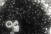 CURLZ GIRLZ / CURLZ GURLZ PINUP PROJECT  Inspiration for upcoming Curly hair pinup art projects. #Curls #Afro